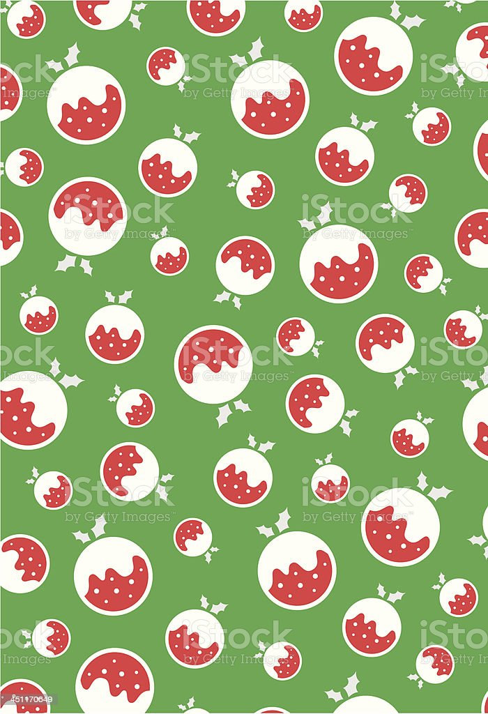 Christmas Pudding Icon Repeat Pattern. royalty-free stock vector art
