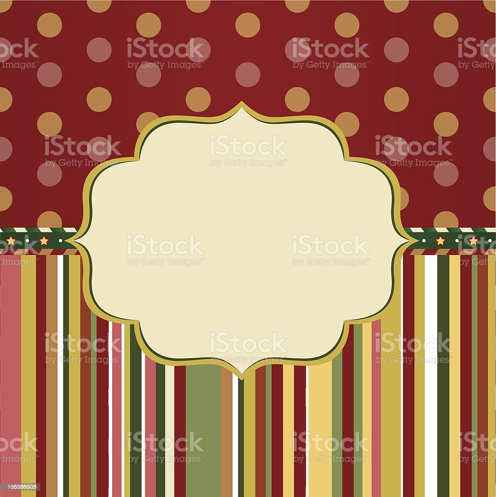 Christmas red and green background royalty-free stock vector art