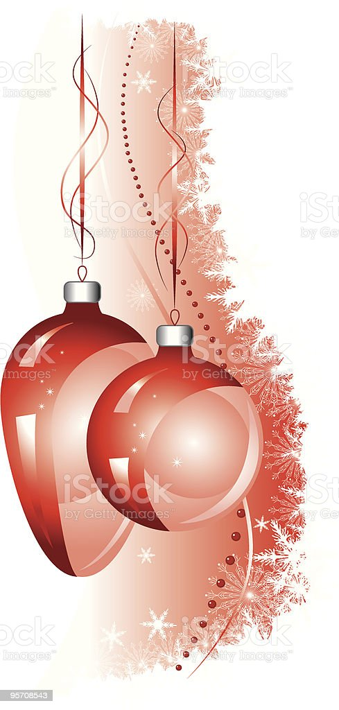 Christmas red background with the balls. royalty-free stock vector art