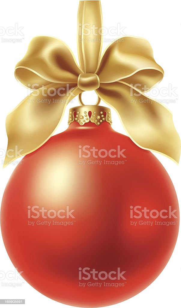 Christmas Red Ball royalty-free stock vector art