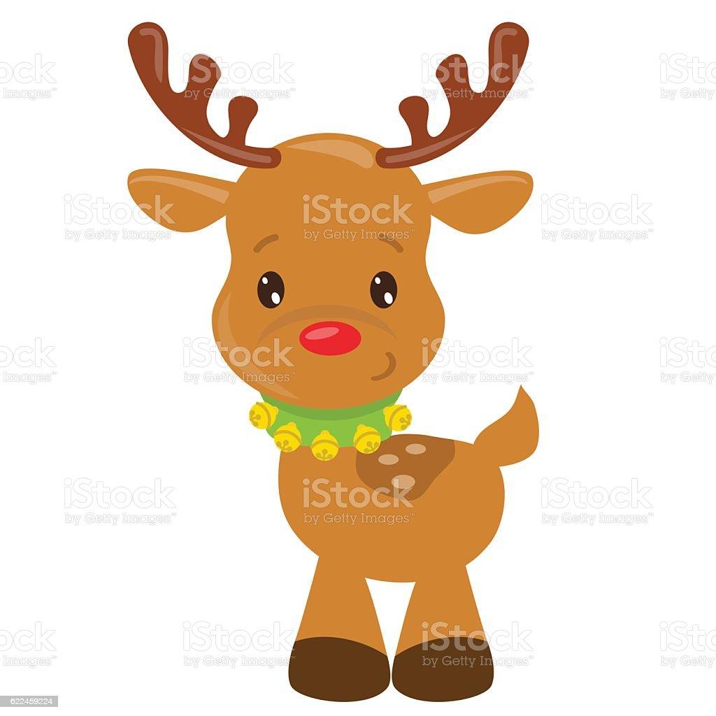 christmas reindeer vector cartoon illustration stock vector art