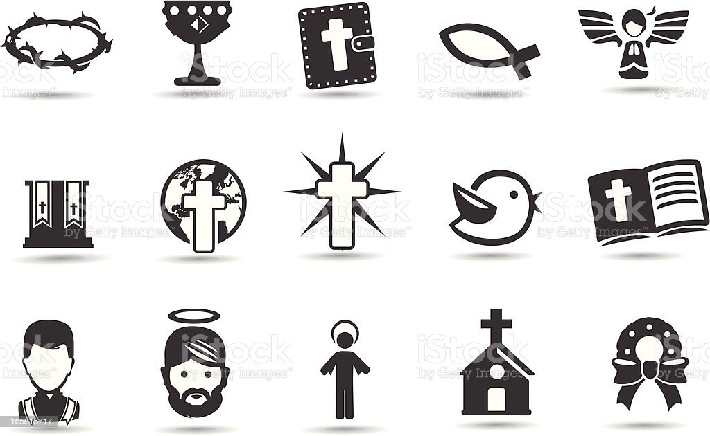 Christmas Religious Symbols royalty-free stock vector art