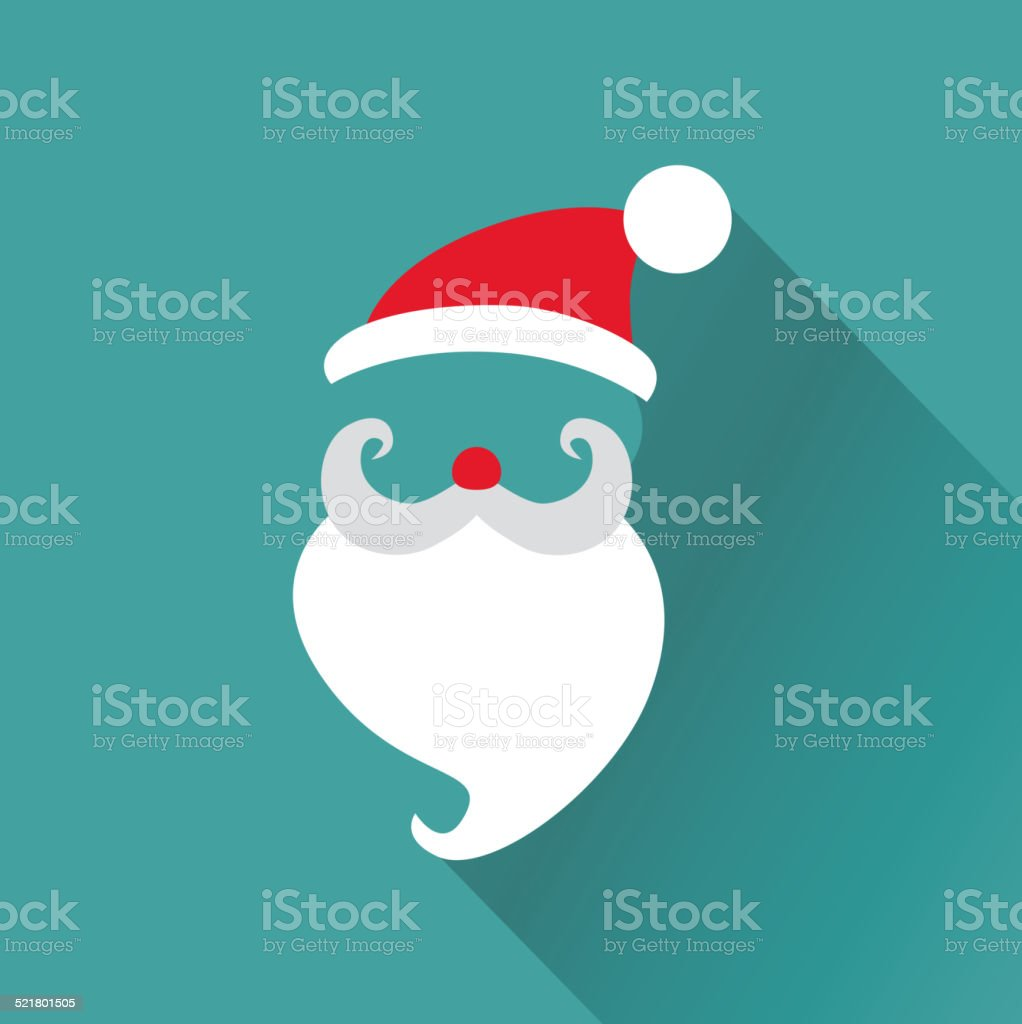 Christmas Retro Santa Card - in vector vector art illustration