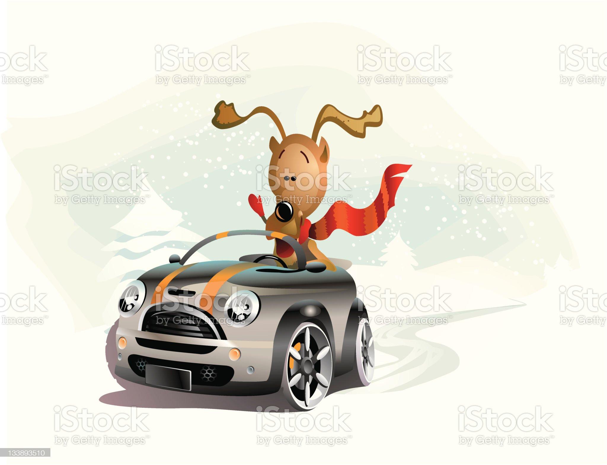 Christmas ride royalty-free stock photo