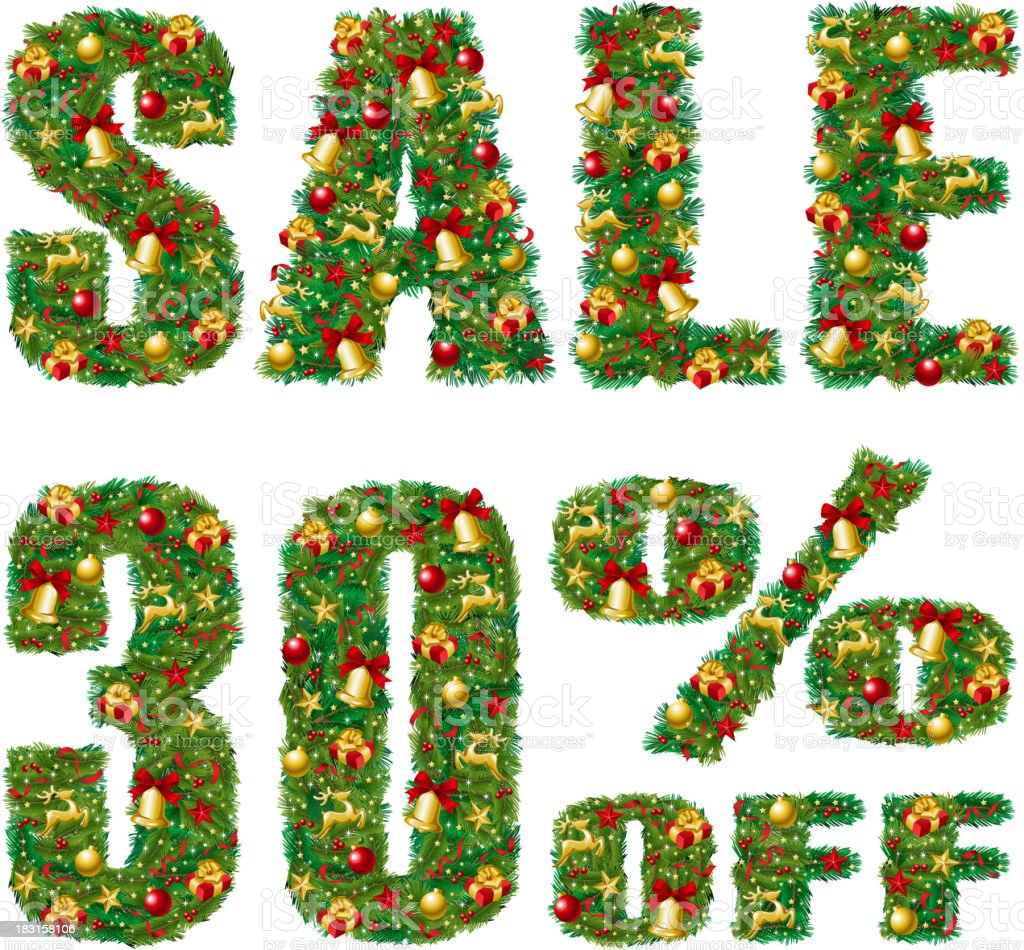 Christmas Sale Discount royalty-free stock vector art