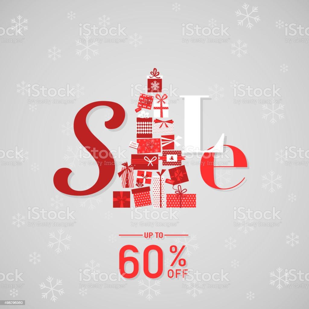 Christmas Sale Poster or Banner vector art illustration