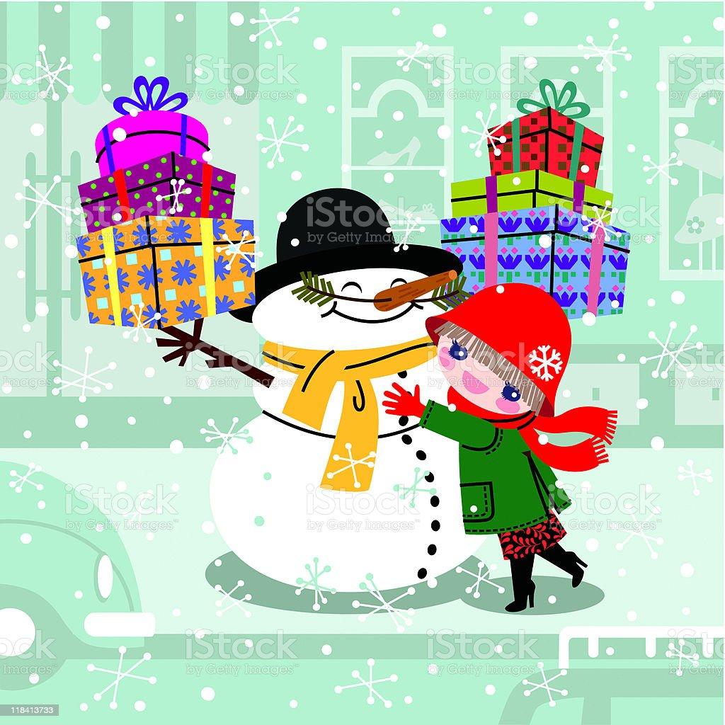 Christmas sale. vector art illustration