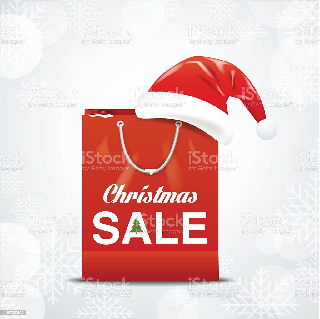 christmas sale vector art illustration