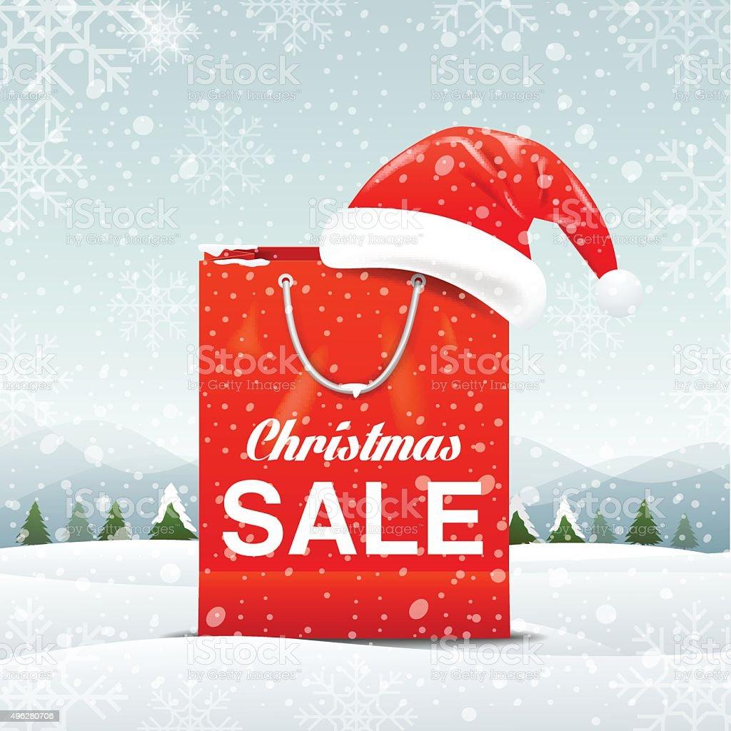 Christmas sale, vector Illustration vector art illustration