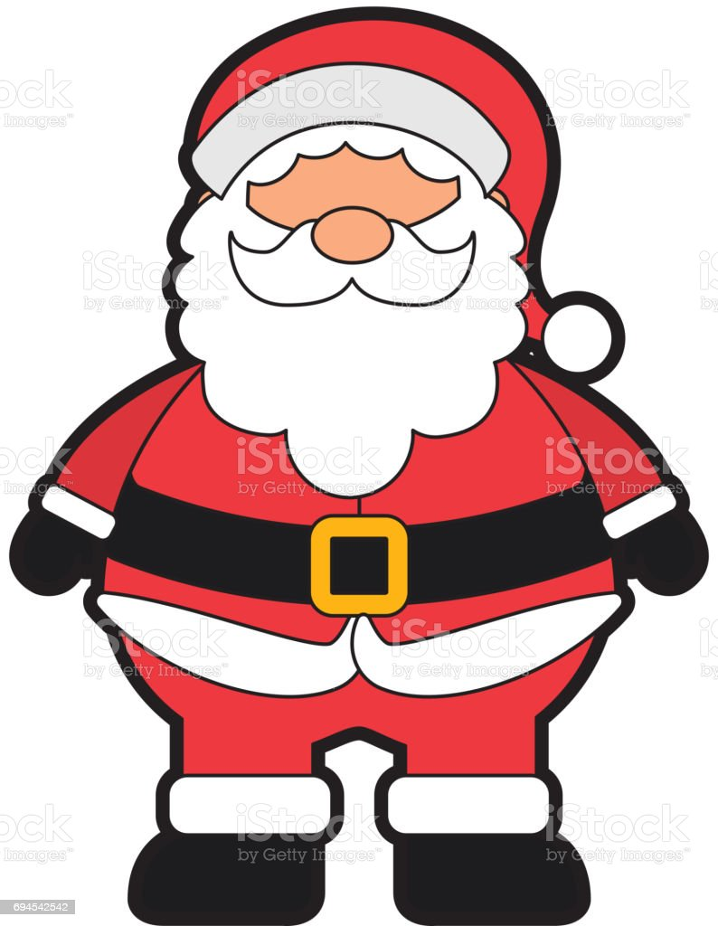 christmas santa claus vector art illustration