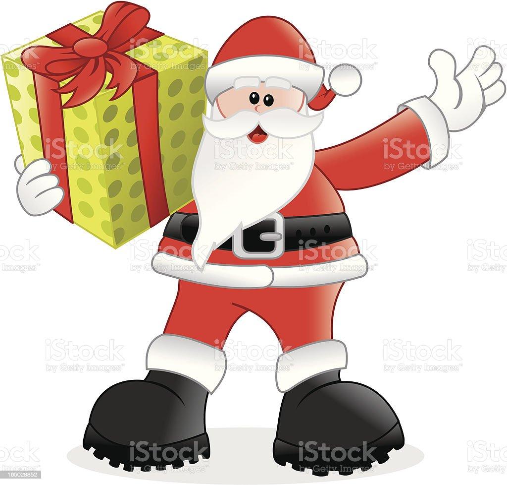 Navidad-santa tiene un regalo para ti. - ilustración de arte vectorial