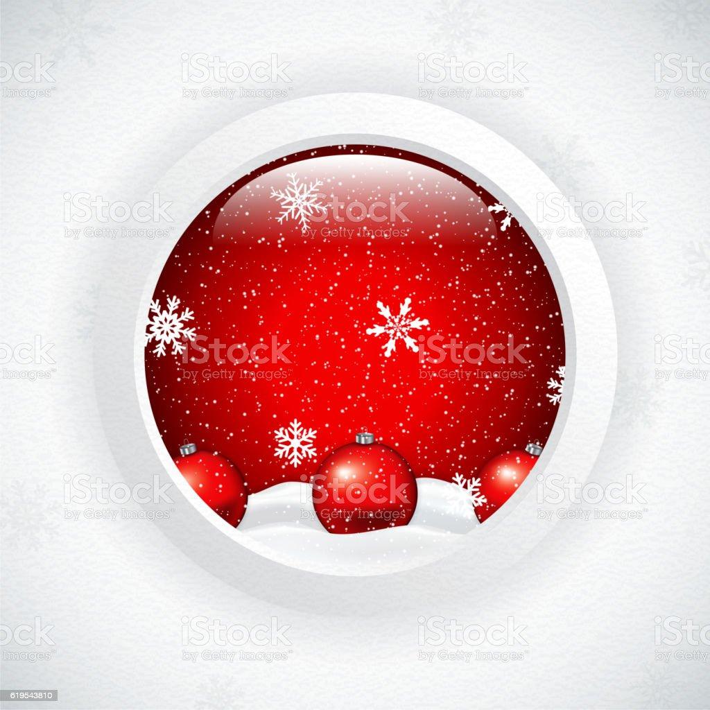 Christmas Scene vector art illustration