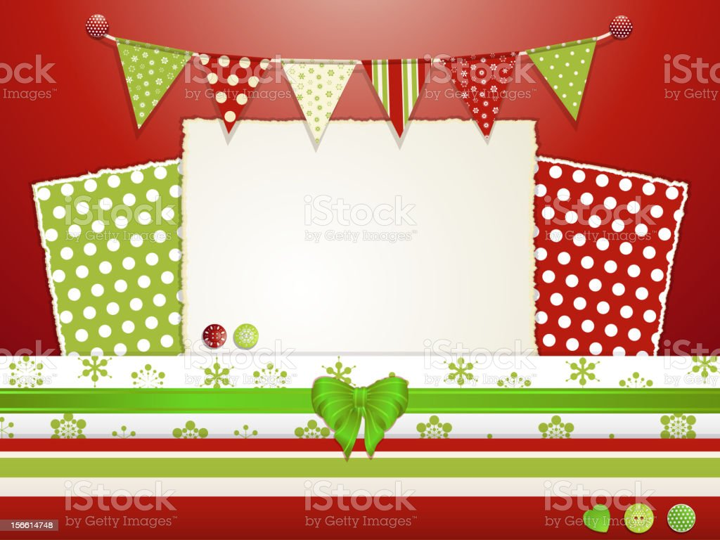 Christmas scrap book background royalty-free stock vector art