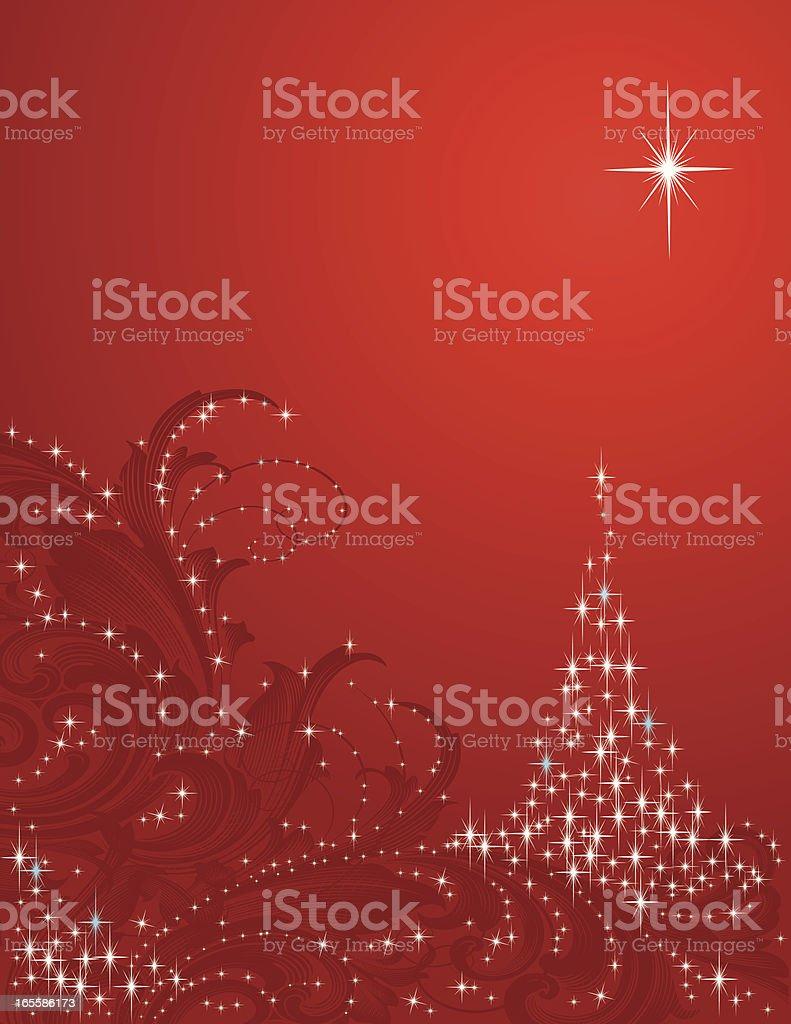 Christmas Scroll royalty-free stock vector art