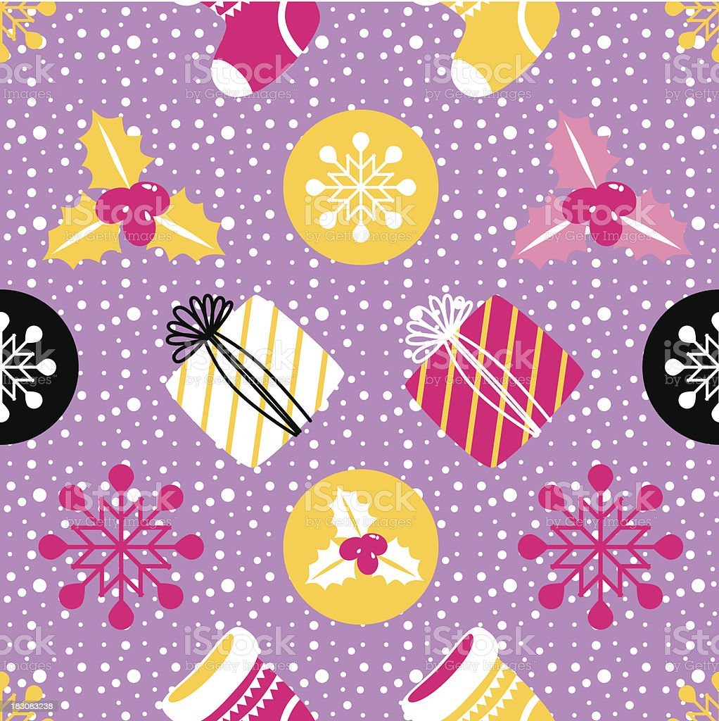 Christmas Seamless background. Holiday pattern for your design. royalty-free stock vector art