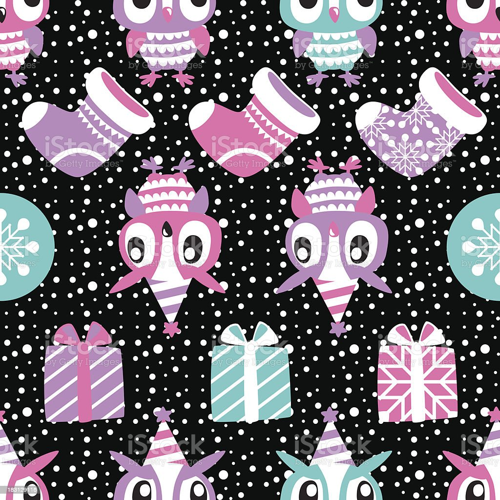 Christmas Seamless background. Holiday pattern for your design royalty-free stock vector art