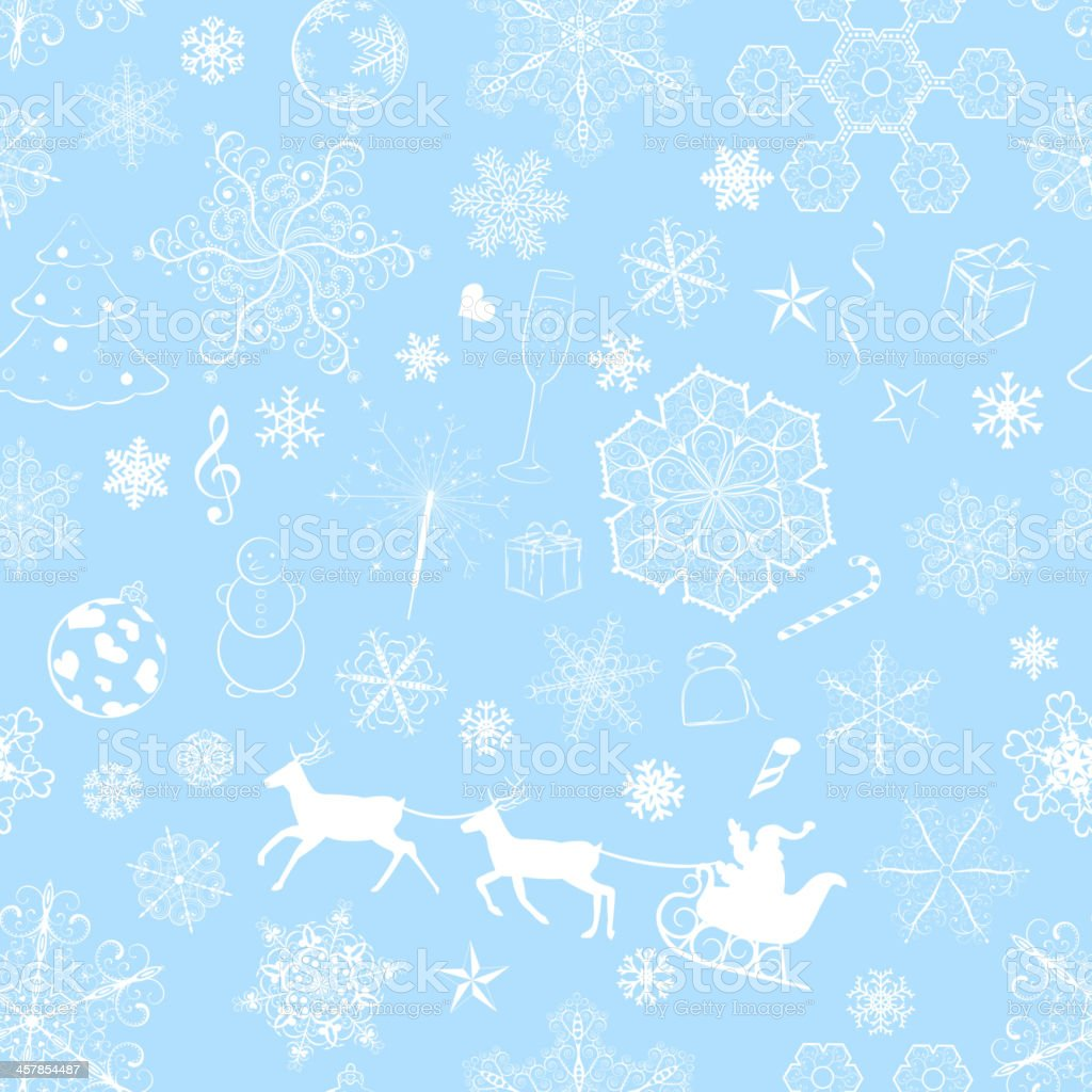 Christmas seamless light blue pattern royalty-free stock vector art