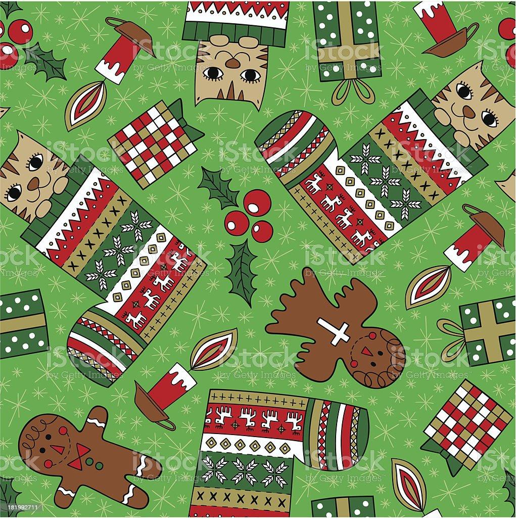 christmas seamless pattern royalty-free stock vector art