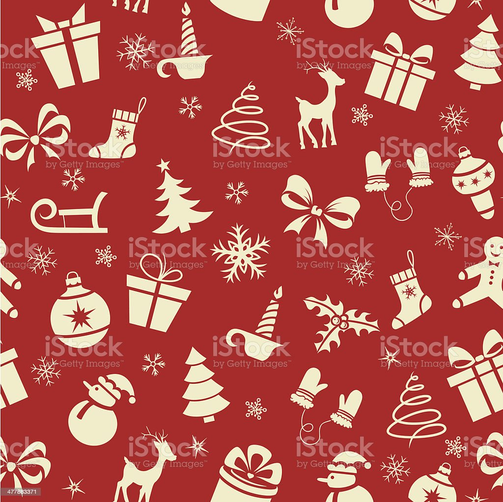 Christmas Seamless Pattern vector art illustration