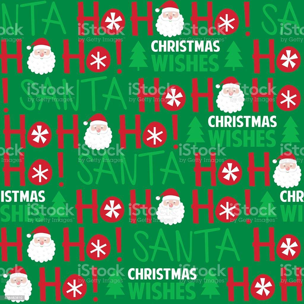 Christmas Seamless Pattern vector art illustration