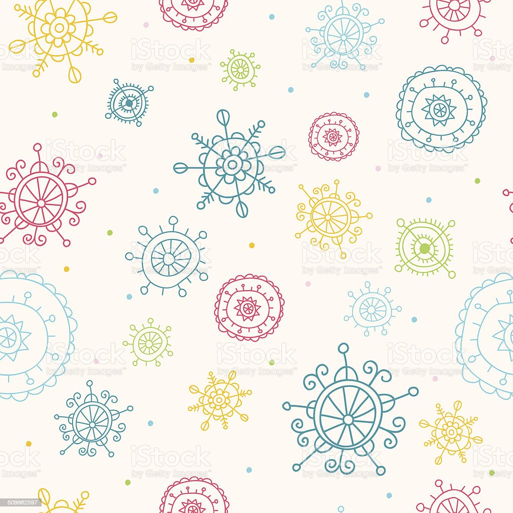 Christmas Seamless Pattern with Snowflakes royalty-free stock vector art
