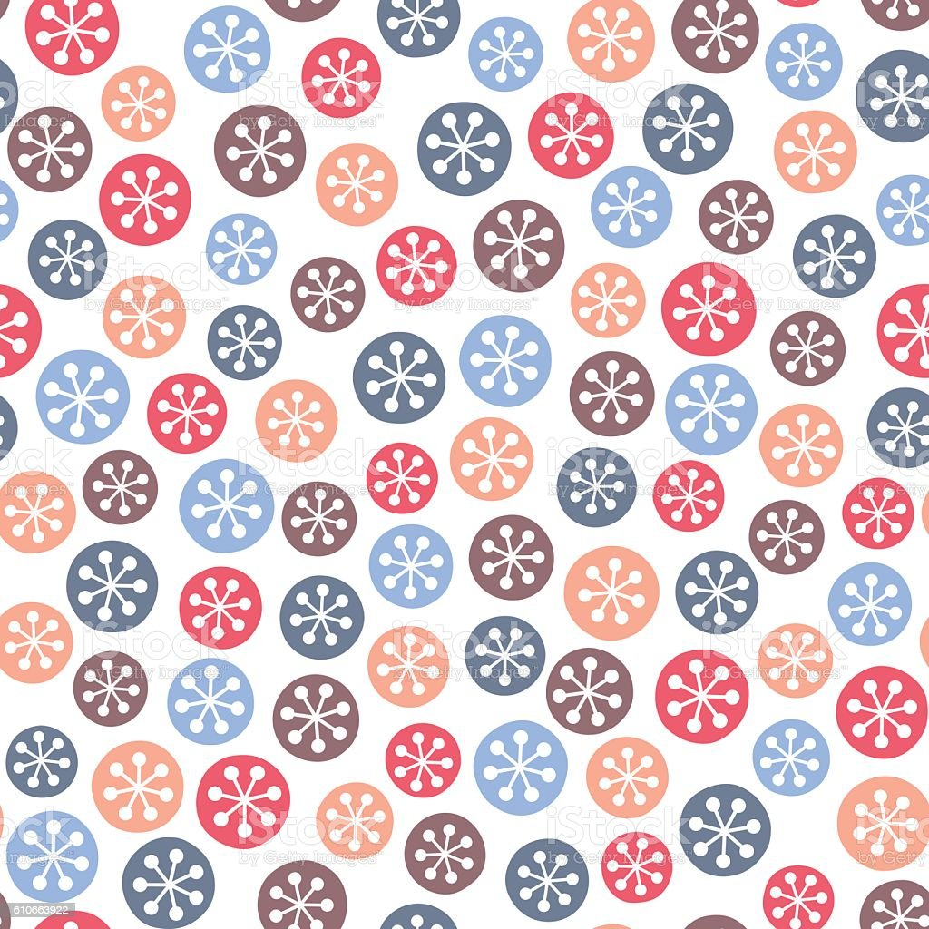 Christmas seamless pattern with snowflakes vector art illustration