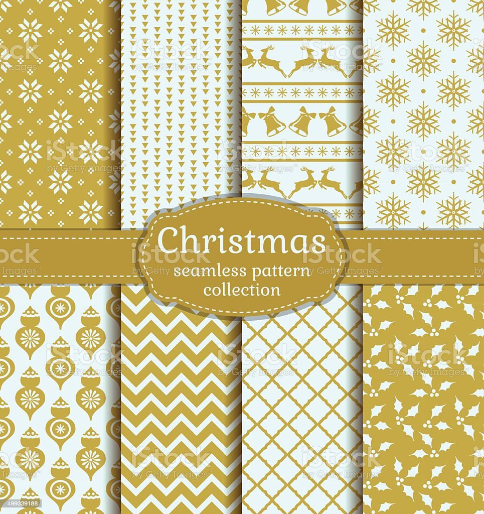Christmas seamless patterns. Vector set. vector art illustration
