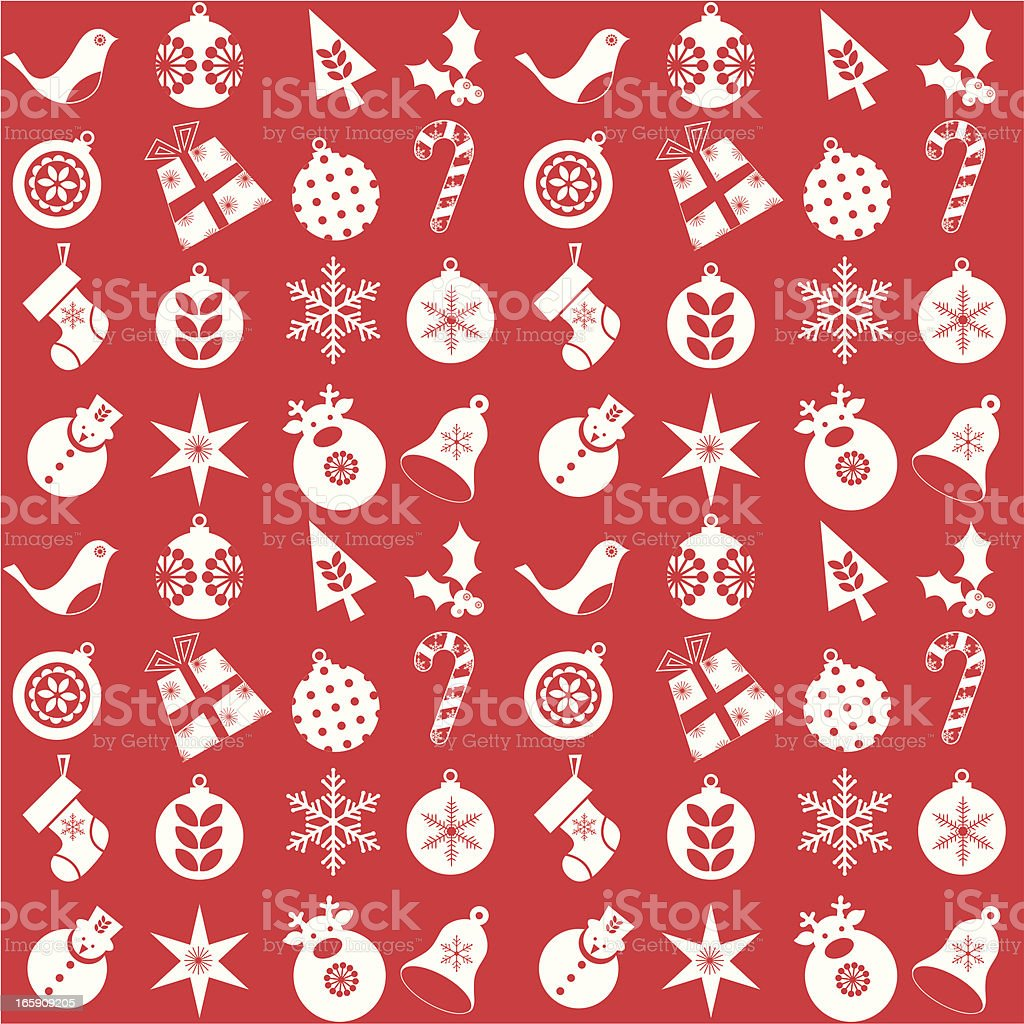 Christmas seamless wrapping paper royalty-free stock vector art