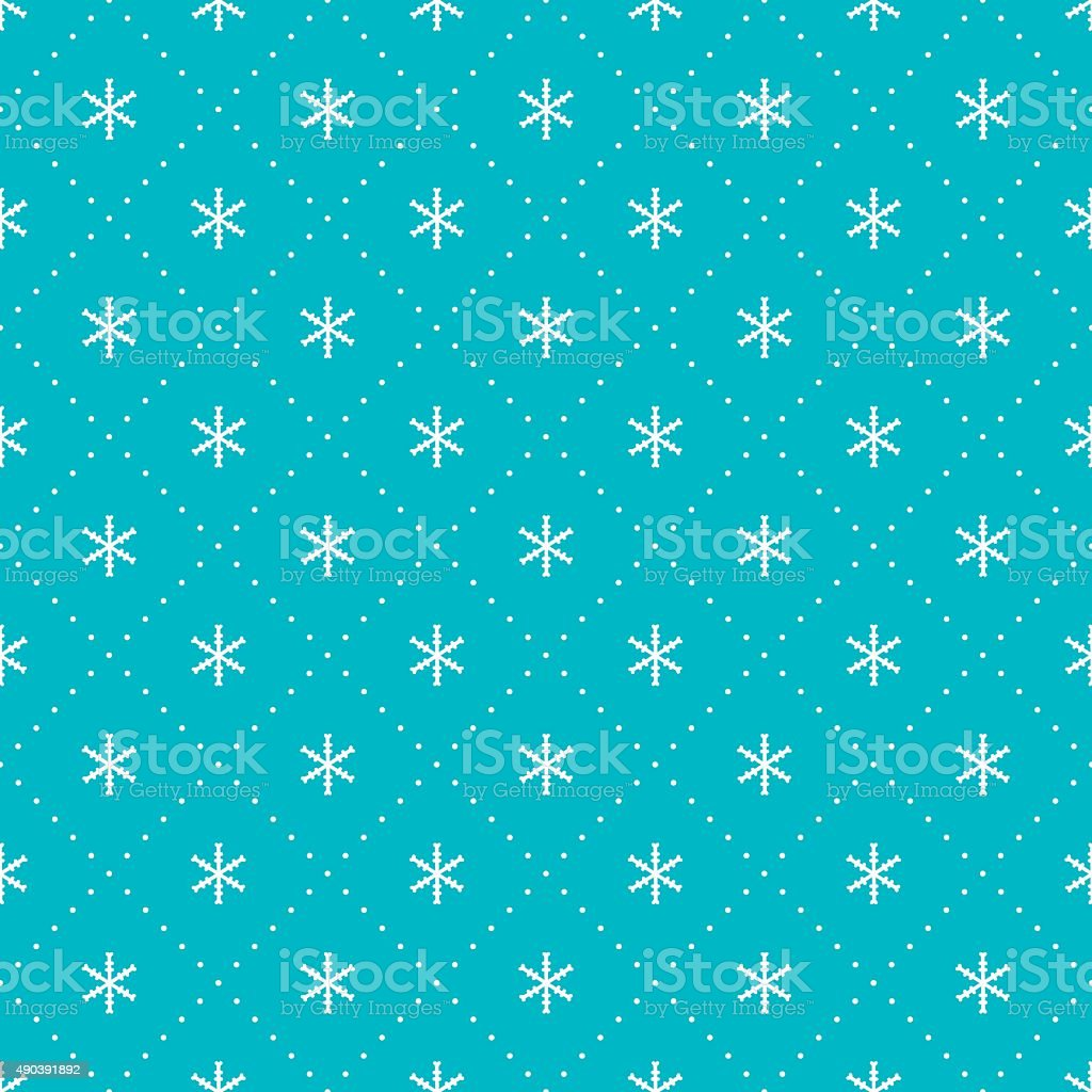 2016 Christmas season hand drawn vector seamless pattern. New Year. vector art illustration
