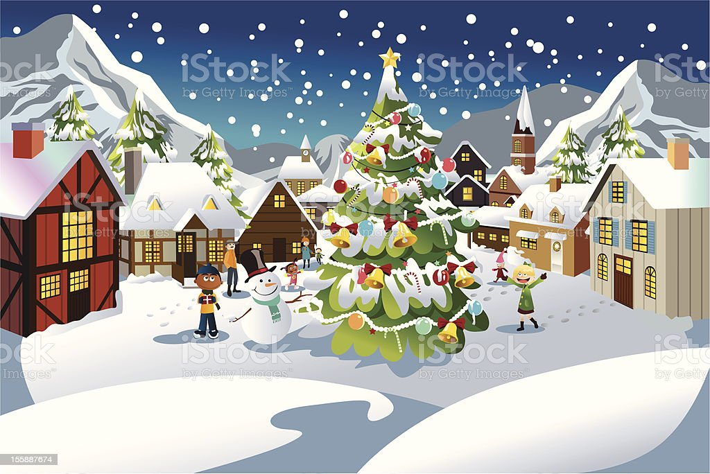 Christmas season vector art illustration