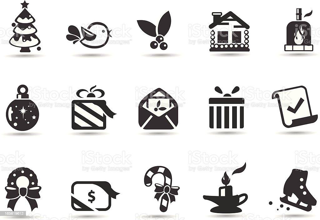 Christmas Seasonal Symbols royalty-free stock vector art