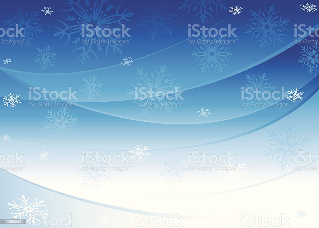 Christmas Seriers   Snowy Background royalty-free stock vector art