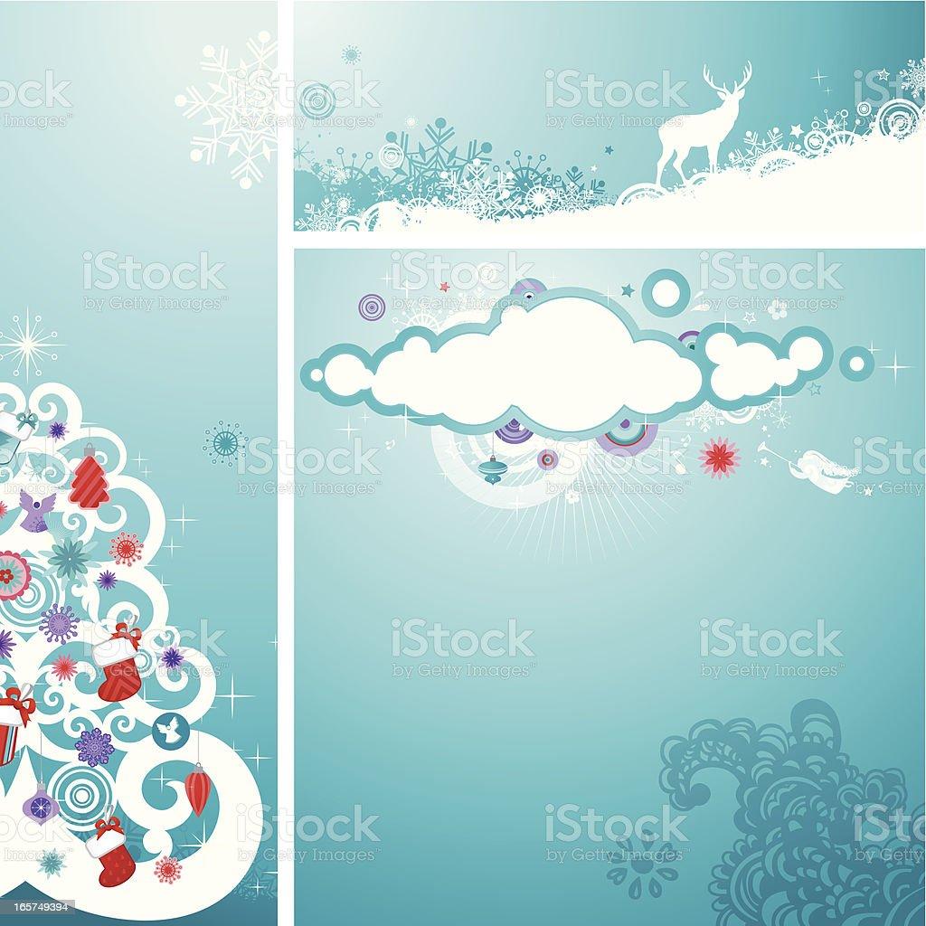 Christmas set   Teal series royalty-free stock vector art
