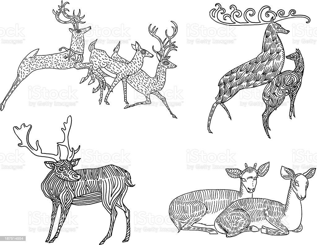 Christmas Set royalty-free stock vector art