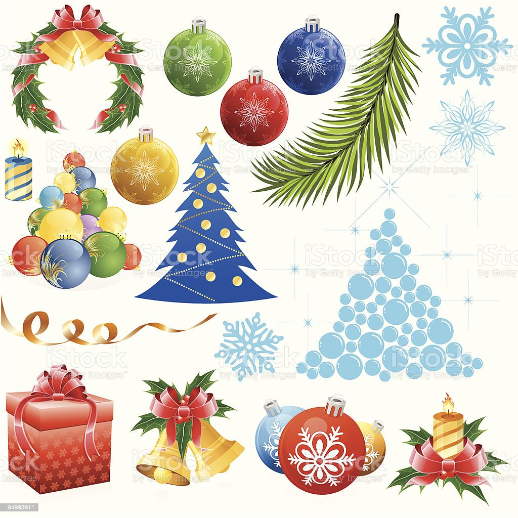 Christmas set royalty-free stock vector art