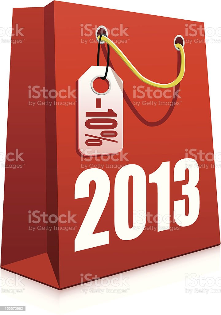 Christmas Shopping Bag royalty-free stock vector art