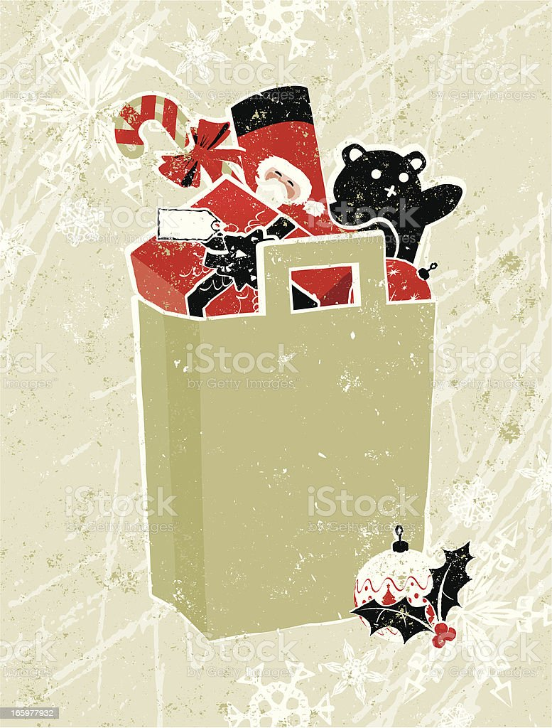 Christmas Shopping Bag royalty-free stock vector art