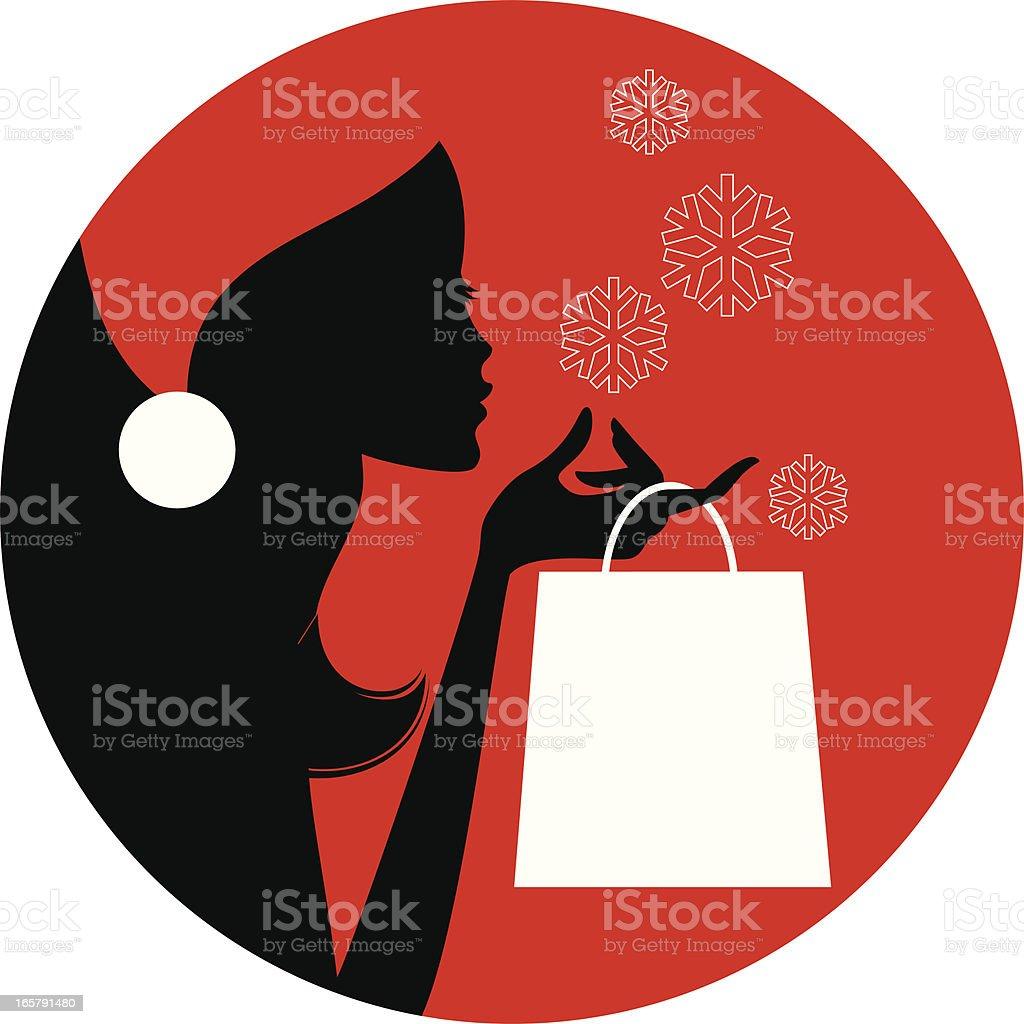Christmas Shopping Lover royalty-free stock vector art