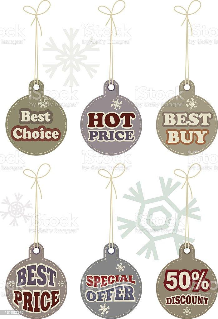 Christmas Shopping Tags vector art illustration