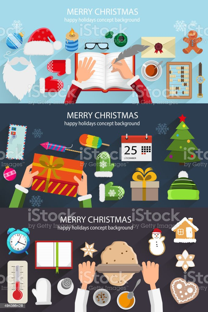 Christmas situation backgrounds vector art illustration