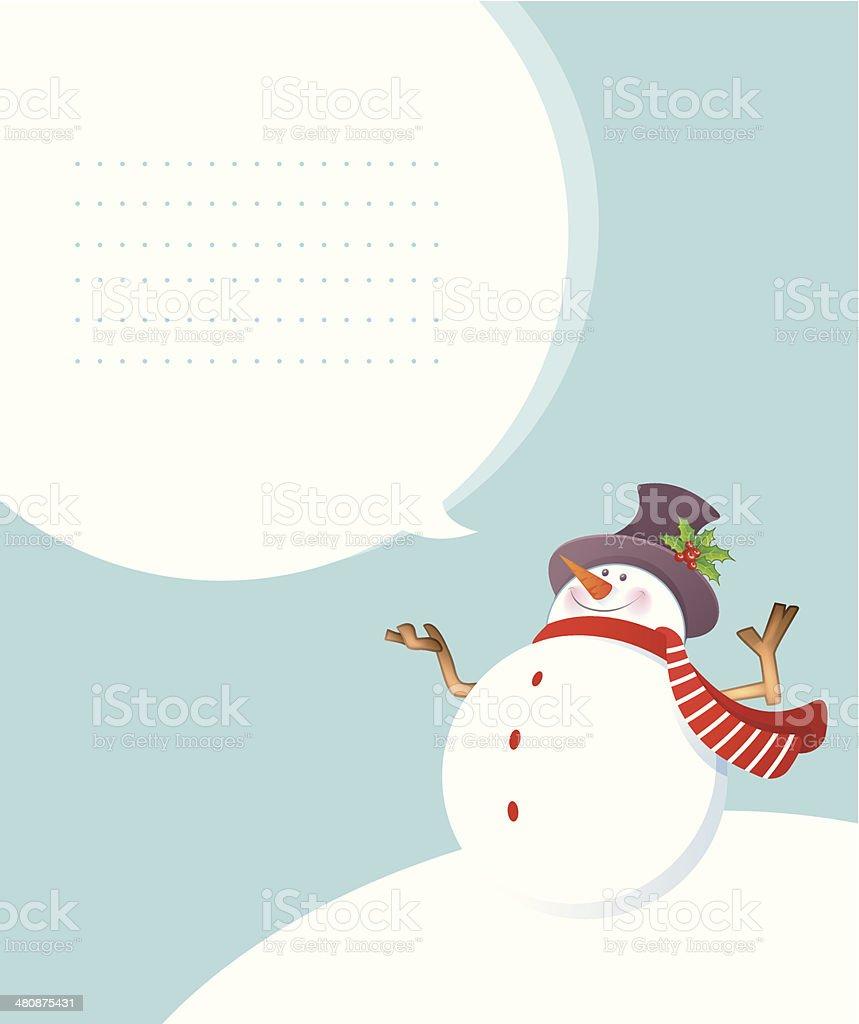 Christmas smiling Snowman royalty-free stock vector art