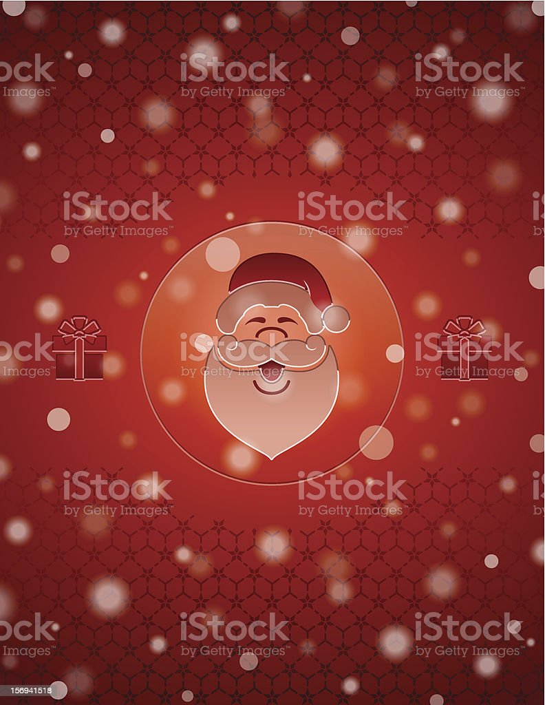 Christmas snow background with Santa Claus and gifts royalty-free stock vector art