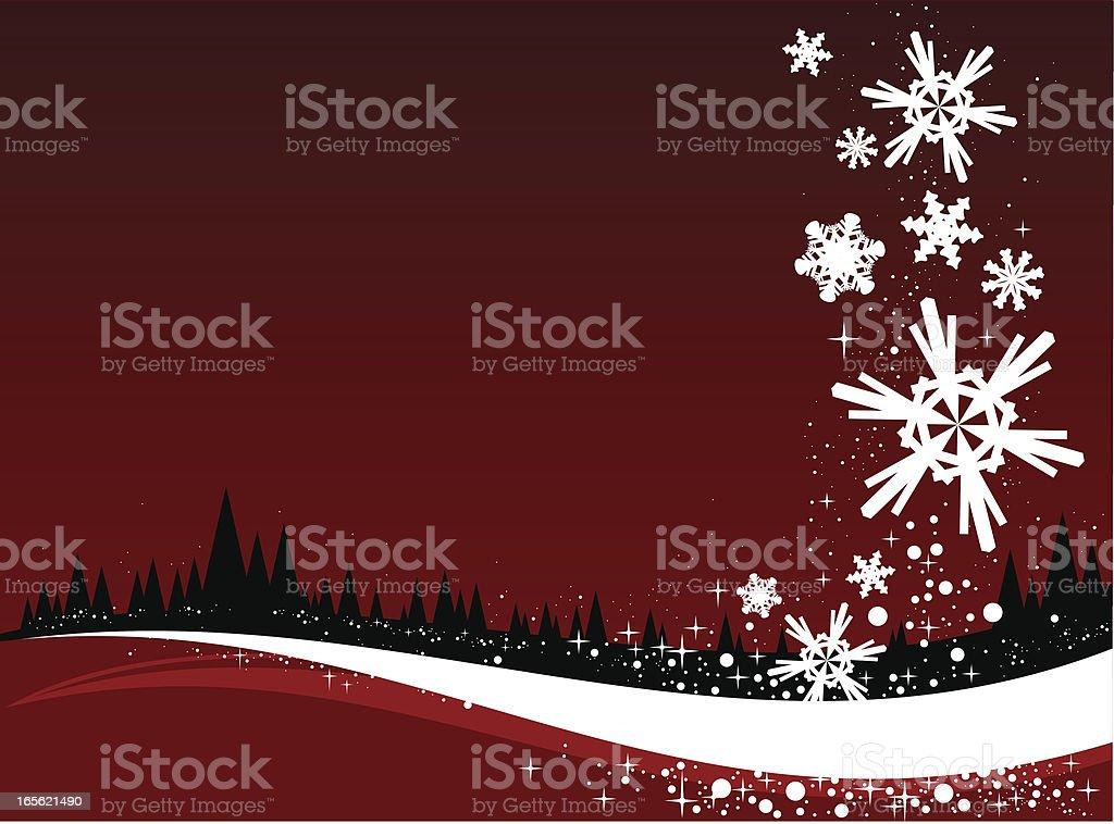 Christmas snow flakes vector art illustration