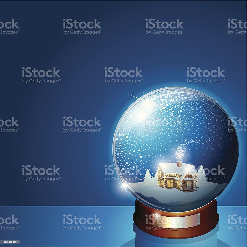 Christmas Snow Globe. Eps 10 royalty-free stock vector art