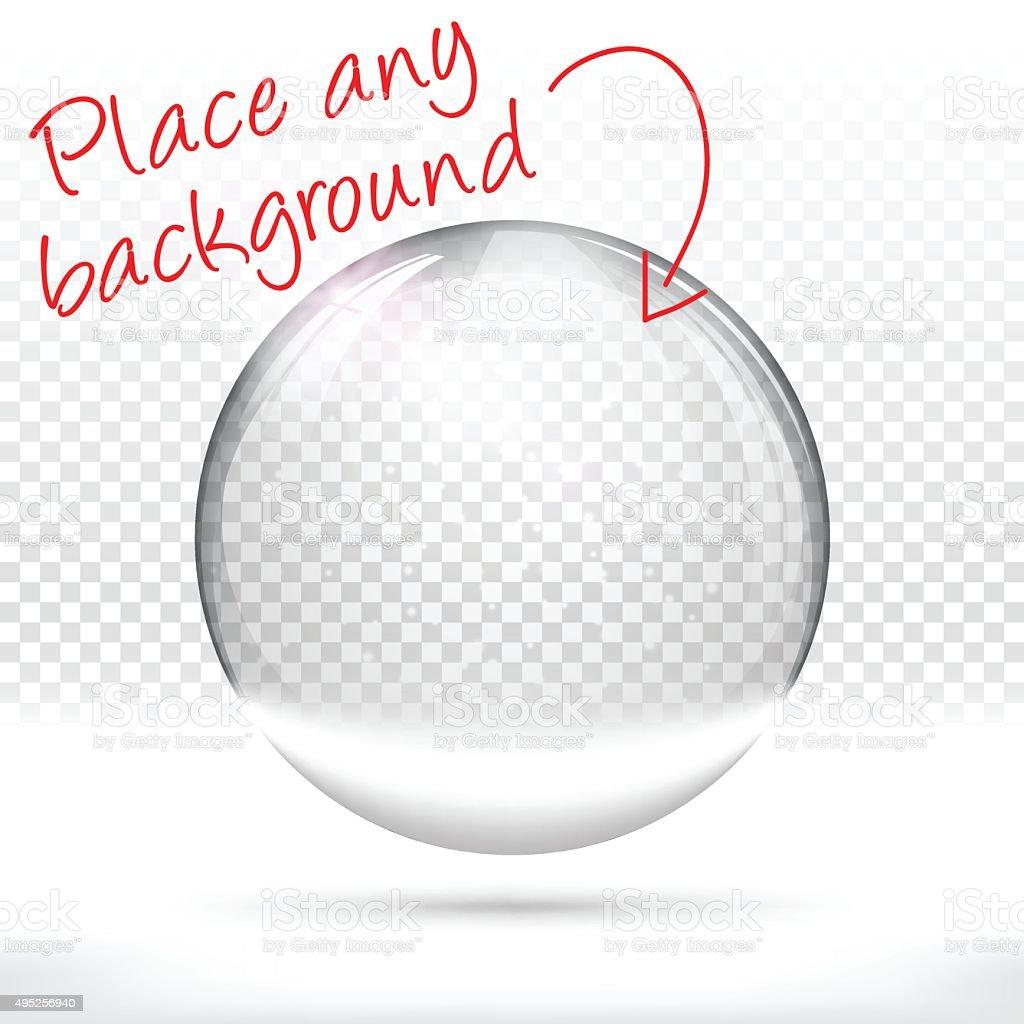 Christmas snow globe for design - Blank Background vector art illustration