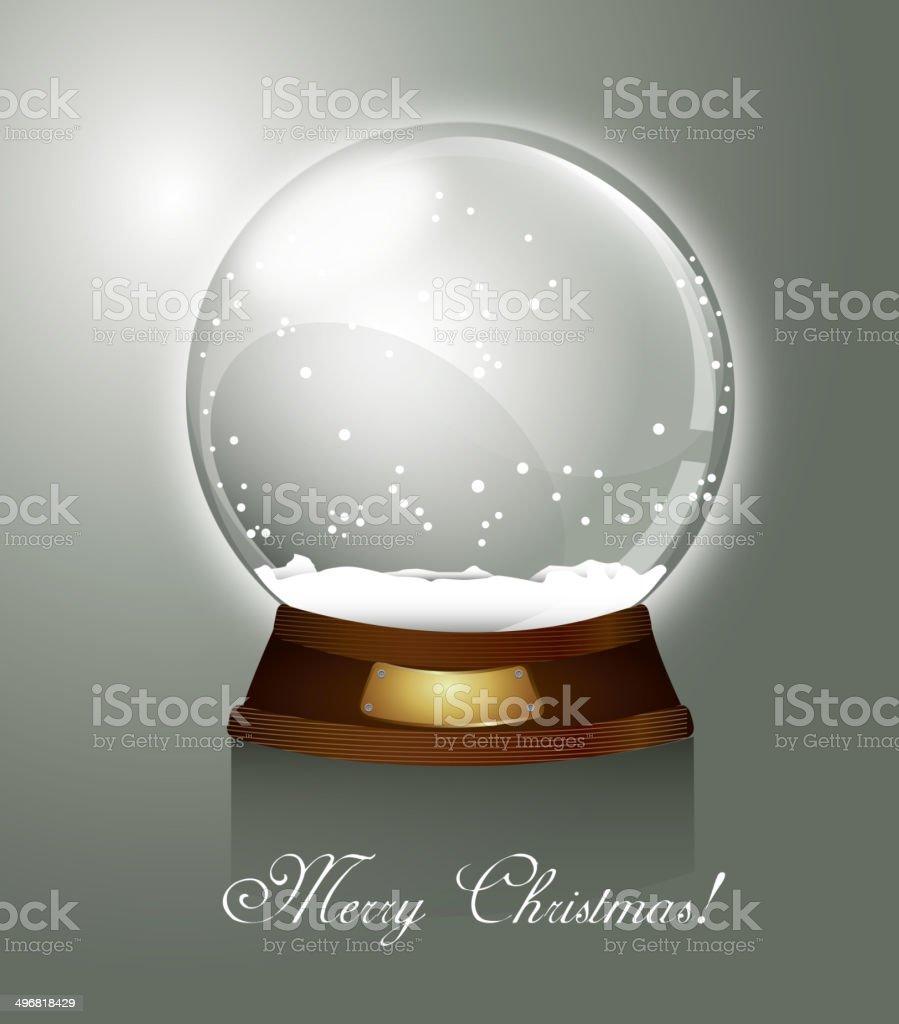 christmas snow globe royalty-free stock vector art