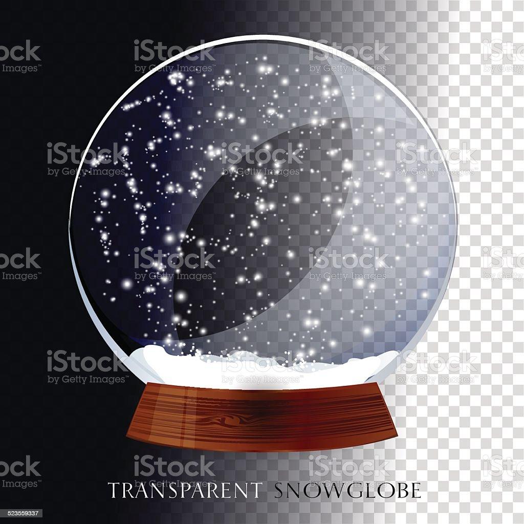 Christmas snow globe vector art illustration