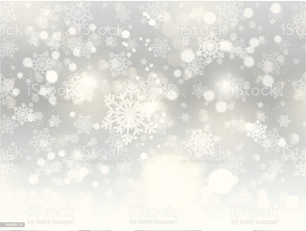 Christmas snowflake background vector art illustration