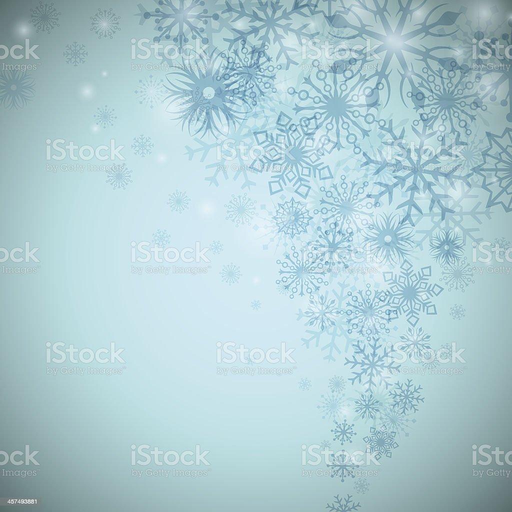 Christmas snowflake flow vector art illustration