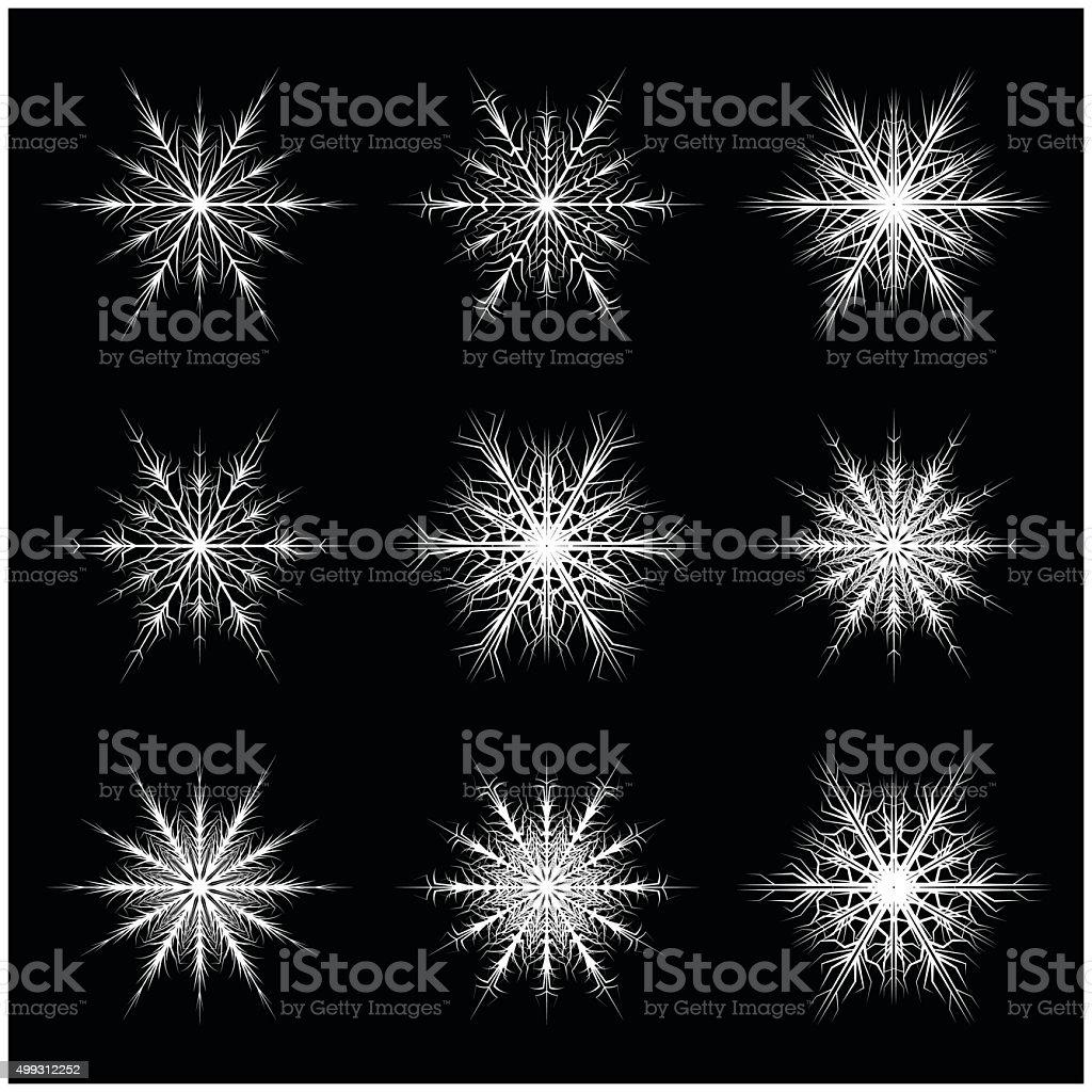 Christmas Snowflake Frost Flake Silhouette Icon Symbol Design Stock